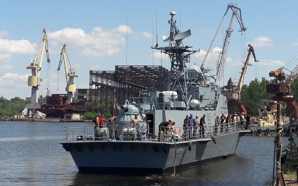 На Николаевском судостроительном заводе после докового ремонта спустили на воду «Геническ» и «Прилуки» (ФОТО) 3