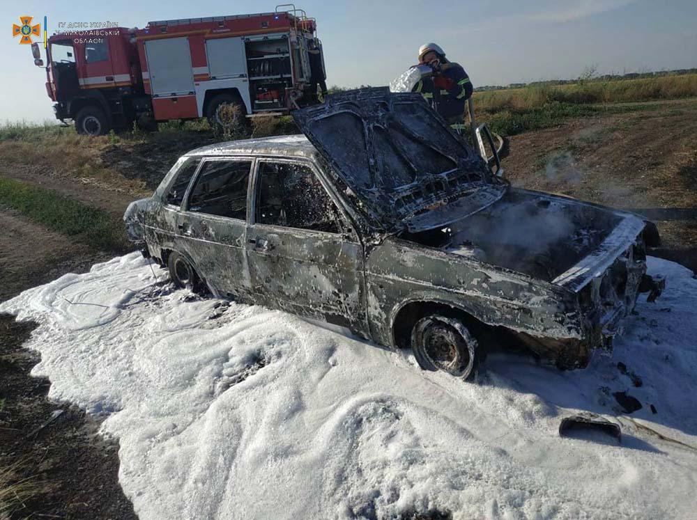 На проселочной дороге в Баштанском районе сгорела «Лада» (ФОТО) 3