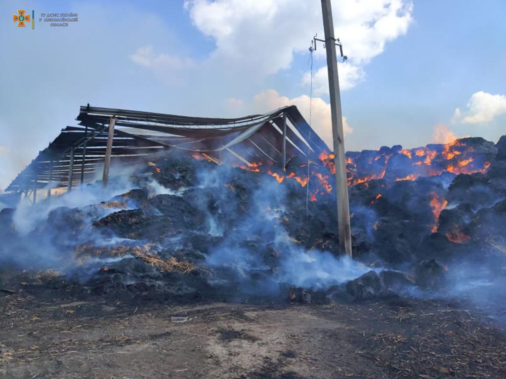 Возле Кривого Озера горит ферма (ФОТО) 11