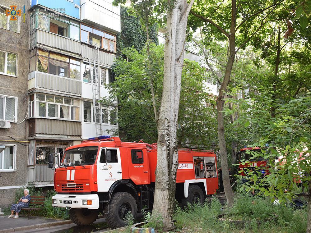Пожарные спасли ребенка из горящей квартиры на 4-м этаже в Николаеве (ФОТО) 1