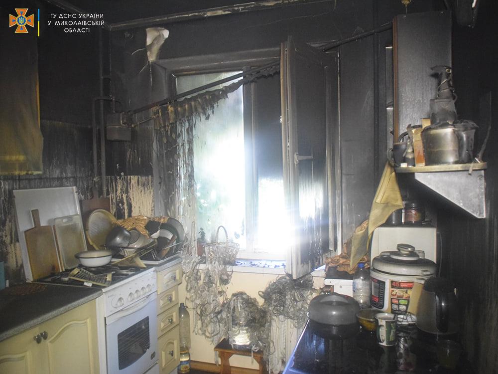 Пожарные спасли ребенка из горящей квартиры на 4-м этаже в Николаеве (ФОТО) 11
