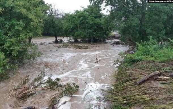 В Крыму реки вышли из берегов, в Ялте снова потоп (ФОТО, ВИДЕО)