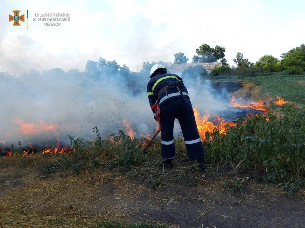 Солома, сухая трава и хозпостройка: что тушили на Николаевщине за сутки (ФОТО) 5