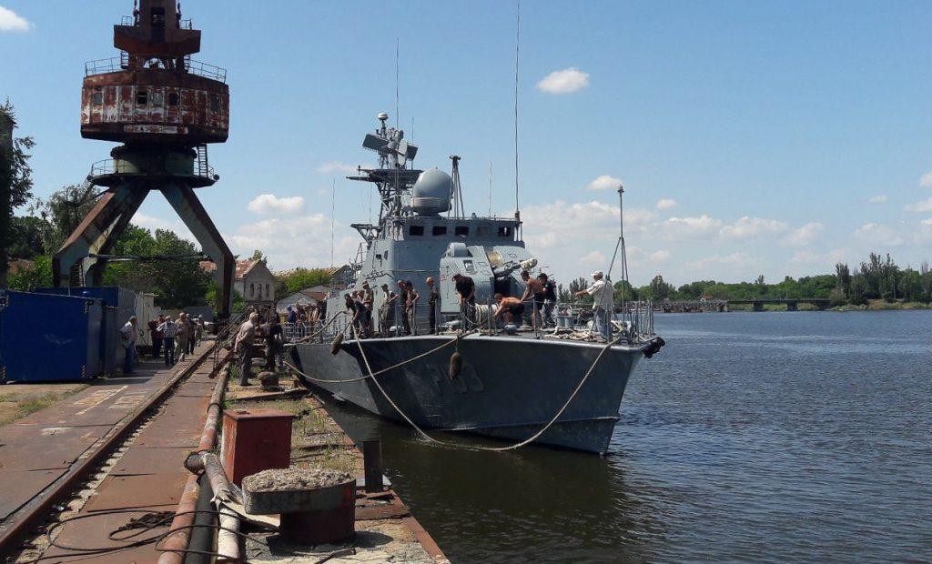 На Николаевском судостроительном заводе после докового ремонта спустили на воду «Геническ» и «Прилуки» (ФОТО) 5