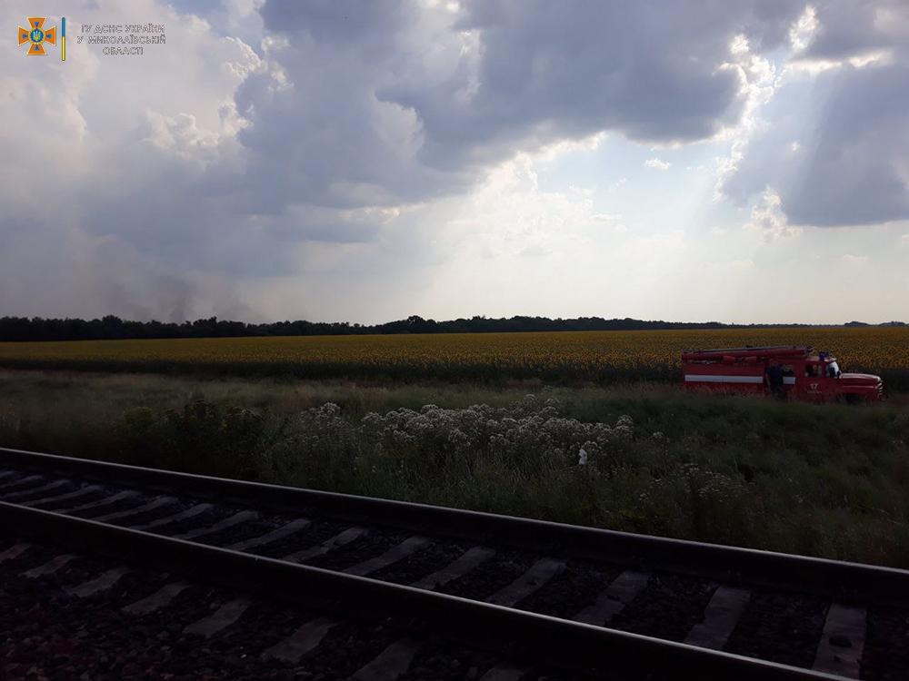 Сухая трава, мусор и стерня: на Николаевщине за сутки выгорело 12 га (ФОТО) 7