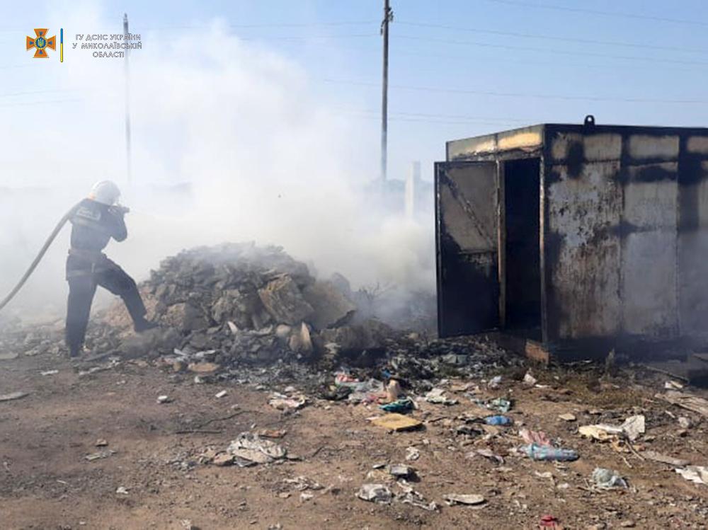 Сегодня горела Баштанская городская свалка и 10 га пшеницы на корню (ФОТО) 7