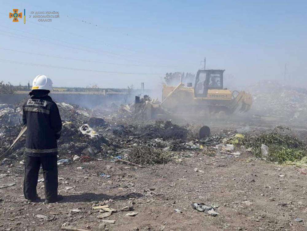 Сегодня горела Баштанская городская свалка и 10 га пшеницы на корню (ФОТО) 9