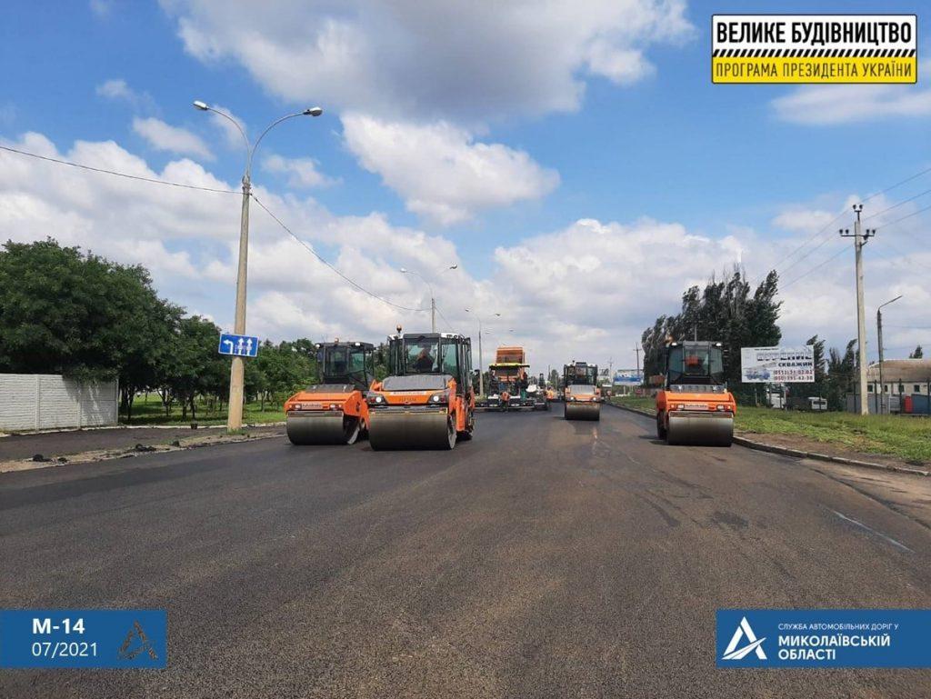 Ремонт дороги на въезде в Николаев: ул.Веселиновская перекрыта – там укладывают финишный слой покрытия (ФОТО) 11