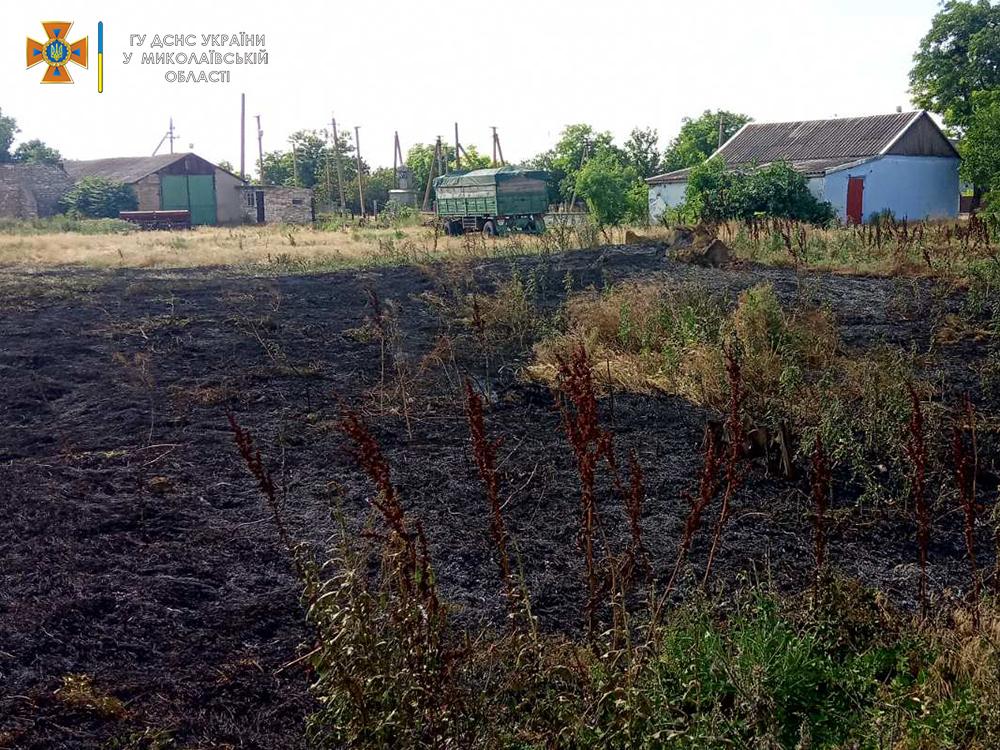 Солома, сухая трава и хозпостройка: что тушили на Николаевщине за сутки (ФОТО) 11