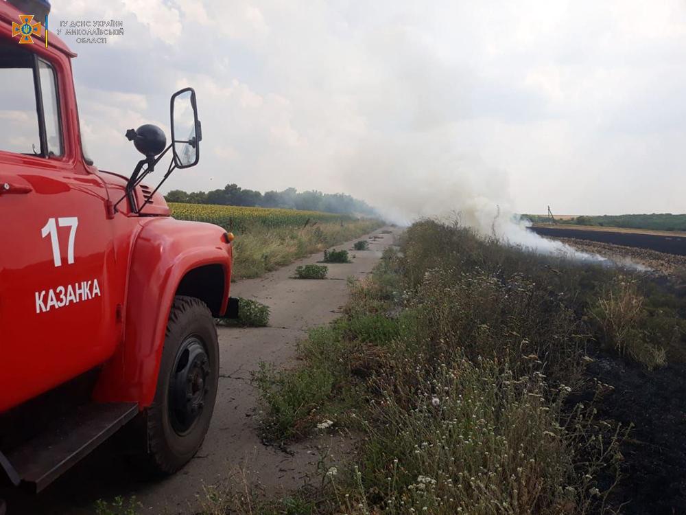 Сухая трава, мусор и стерня: на Николаевщине за сутки выгорело 12 га (ФОТО) 11