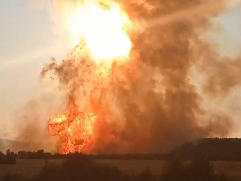Горела земля. В РФ на магистральном газопроводе произошел взрыв (ФОТО, ВИДЕО)