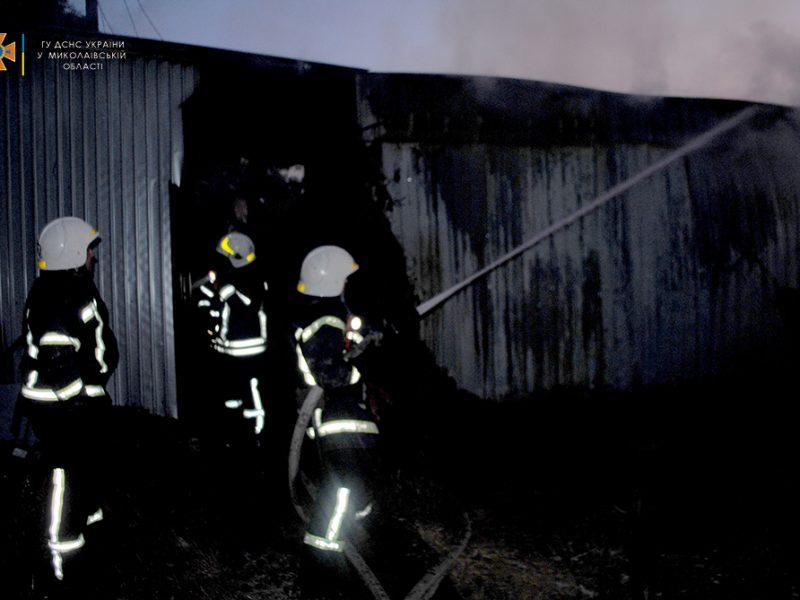 В Николаеве на рассвете тушили пожар на Набережной (ФОТО)