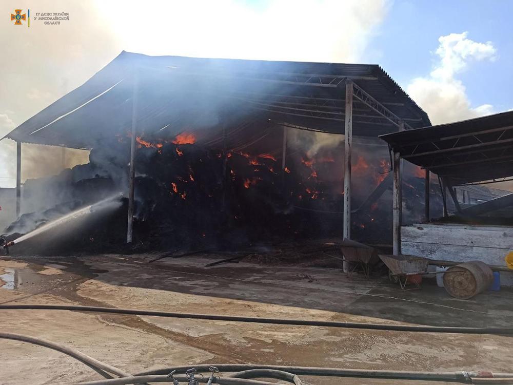 Возле Кривого Озера горит ферма (ФОТО) 3
