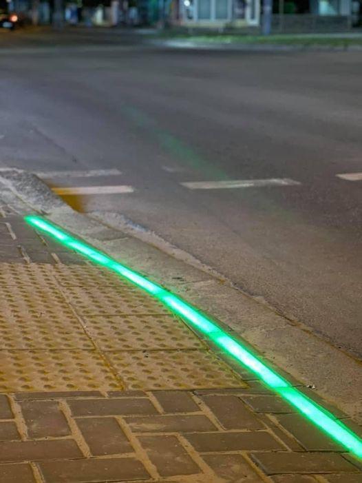 В Николаеве появился пешеходный переход с такой подсветкой, которой еще не было 1