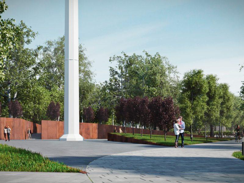 А ржавый забор вокруг флагштока под большой Государственный флаг в Николаеве – это, чтобы вы знали, шик