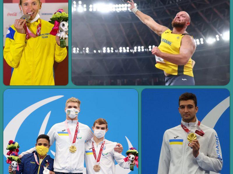 За сегодняшний день паралимпийская сборная Украины завоевала 13 наград