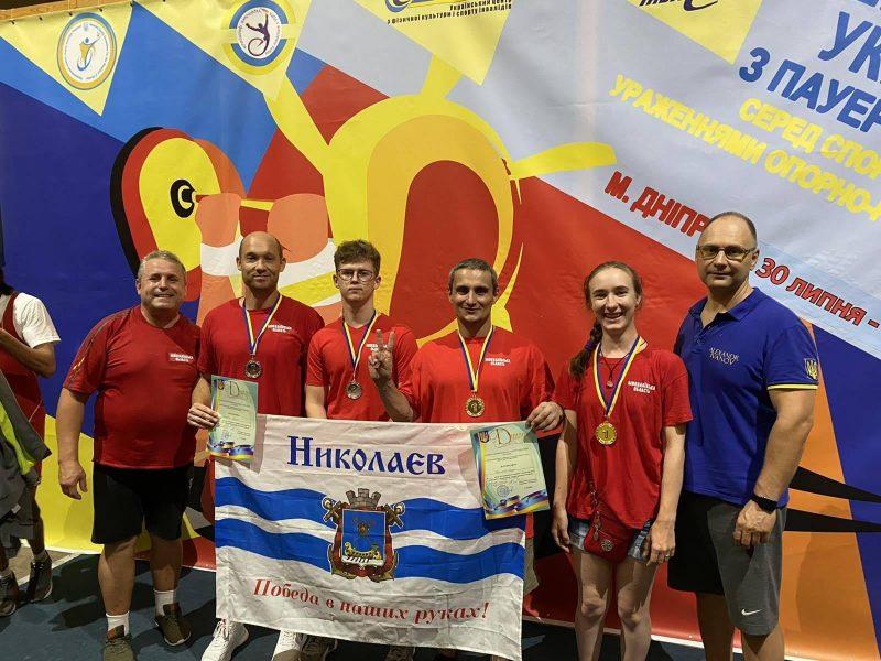 Четыре спортсмена из Николаева добыли медали чемпионата Украины по пауэрлифтингу среди спортсменов с поражениями опорно-двигательного аппарата (ФОТО)