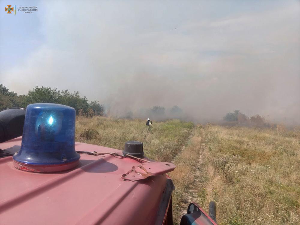 На Николаевщине за сутки 26 раз тушили пожары в экосистемах, в двух случаях огонь перекинулся на жилой сектор (ФОТО) 1