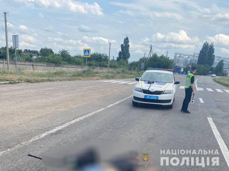 У Константиновки под колесами микроавтобуса погиб пешеход (ФОТО)