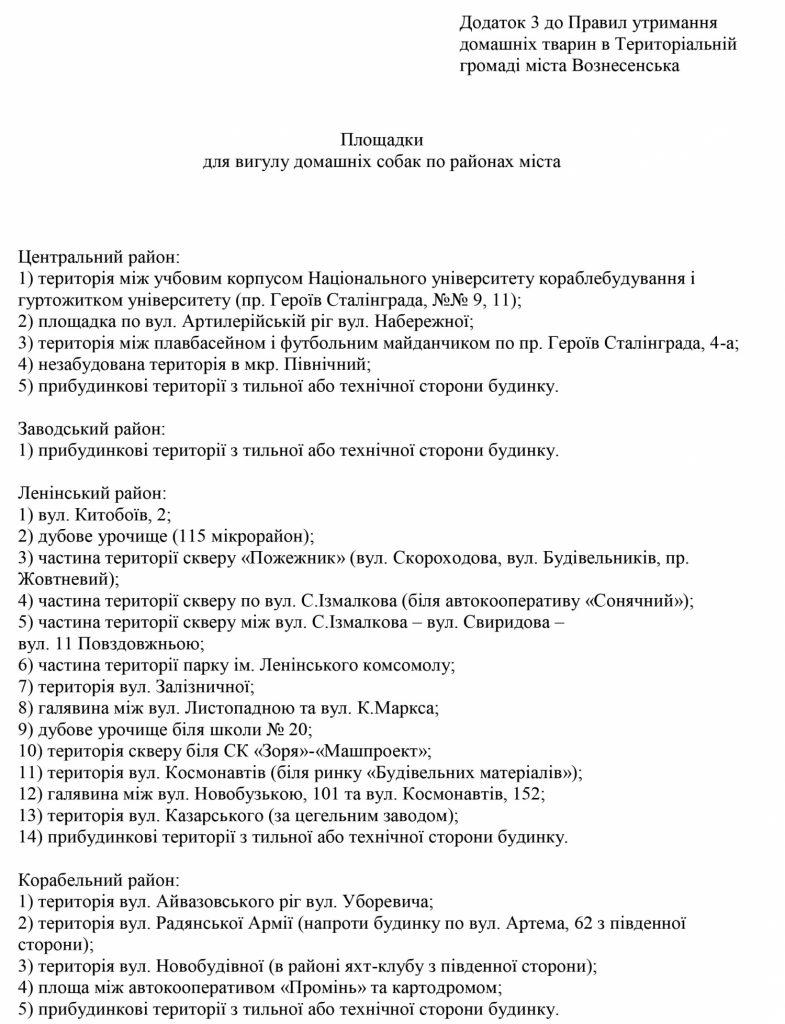 Мэрия Вознесенска разрешила своим горожанам выгуливать собак только в Николаеве (ДОКУМЕНТ) 1
