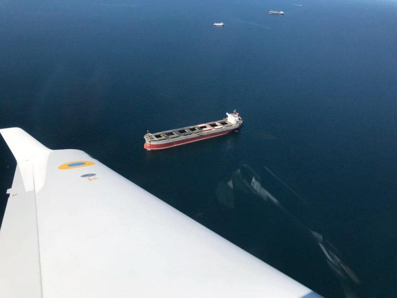 Пограничники в Черноморске обнаружили загрязнителя моря. Судно с зерном задержали до уплаты штрафа (ФОТО)