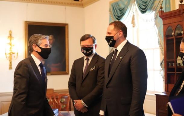 Состоялись переговоры Ермака, Кулебы и Блинкена в рамках подготовки визита Зеленского