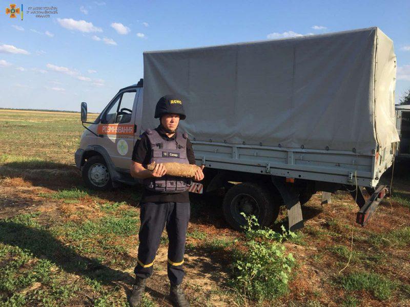 В Корабельном районе Николаева нашли 4 старых артснаряда (ФОТО)