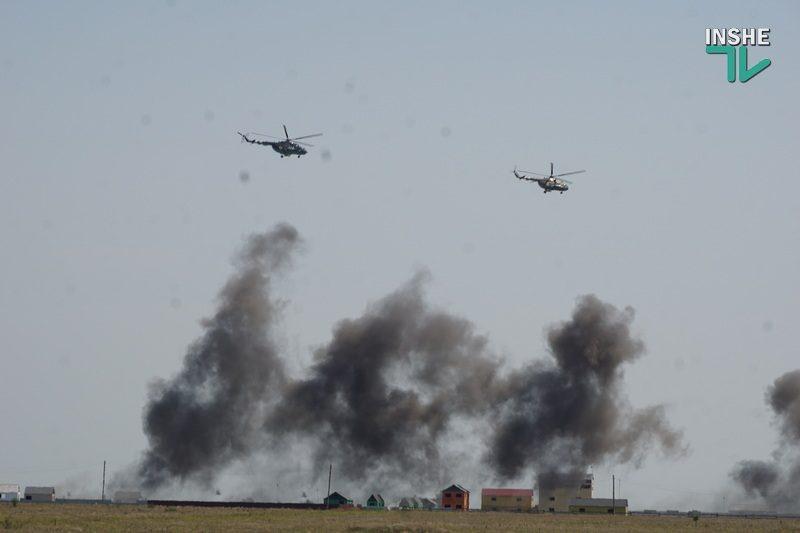 Военные учения на николаевском полигоне «Широкий лан»: аэродромы защитили от условного противника (ФОТО, ВИДЕО)