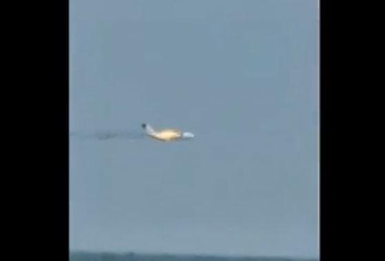 В Подмосковье загорелся и упал новейший транспортный самолет Ил-112В (ВИДЕО)