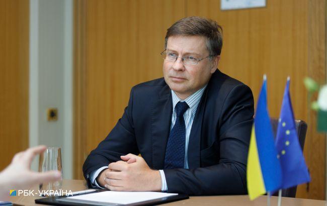 Украину в ЕвроСоюзе в ближайшие годы не ждут, — Домбровскис