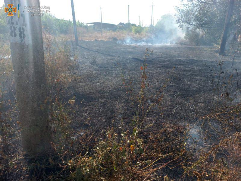 За сутки на Николаевщине выгорело более 17 га открытых территорий