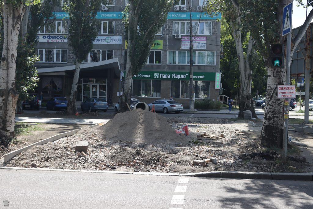Ко Дню города Николаева с ремонтом бульварной части пр.Центрального у «Дормашины» не успеют (ФОТО) 3