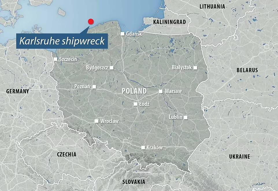 След Янтарной комнаты? Польские дайверы начинают исследование затонувшего в 1945 году немецкого корабля «Карлсруэ» (ФОТО) 17