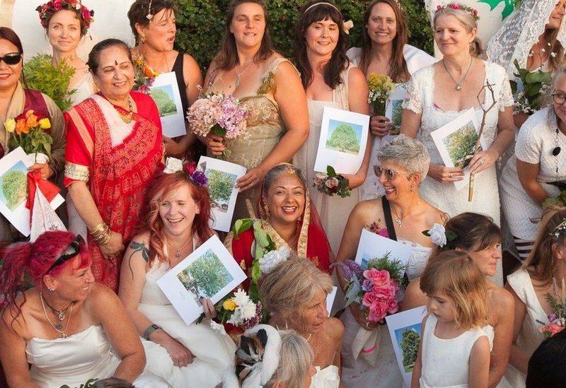 Женщины Бристоля организовали массовую свадьбу с деревьями: чтобы спасти их от вырубки