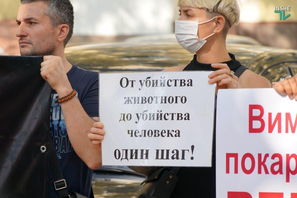 В Николаеве требовали справедливого наказания для застрелившего собаку на рынке «Юлиана» (ФОТО, ВИДЕО) 3
