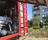 В Очакове тушили пожар на балконе, спасли квартиру (ФОТО)