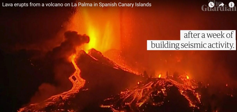 По испанскому острову ползет раскаленная 6-метровая волна лавы в тысячу градусов (ВИДЕО) 1