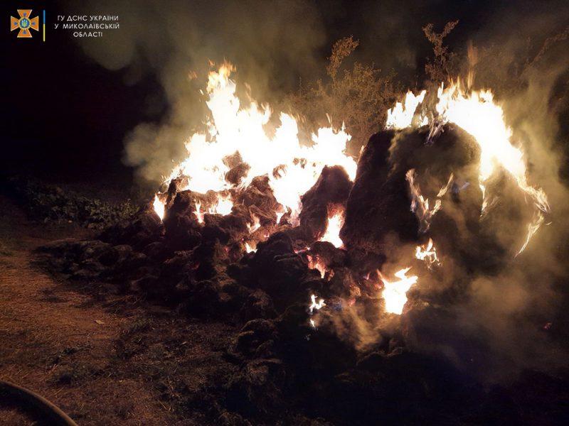 Жилые дома и хозпостройки: что тушили спасатели Николаевщины за сутки (ФОТО)