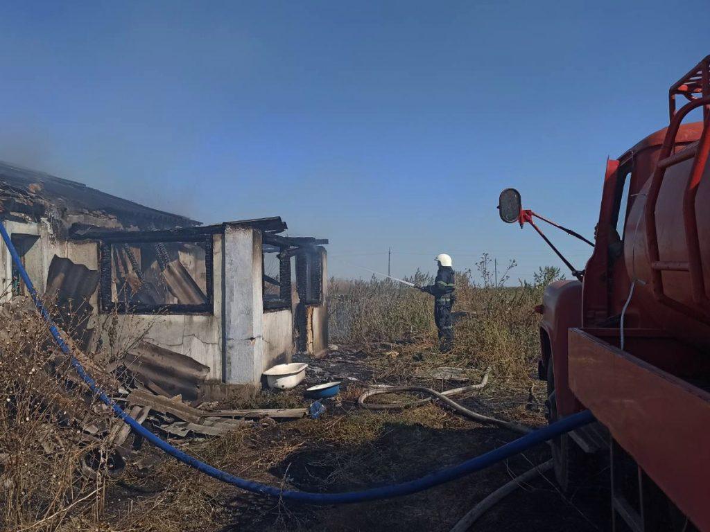 Жилые дома и хозпостройки: что тушили спасатели Николаевщины за сутки (ФОТО) 9