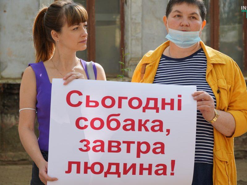 В Николаеве требовали справедливого наказания для застрелившего собаку на рынке «Юлиана» (ФОТО, ВИДЕО)