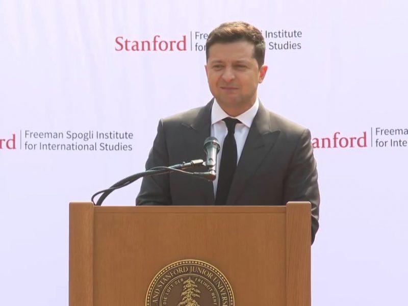 Зеленский в Стэнфорде рассказал, зачем стал президентом (ВИДЕО)