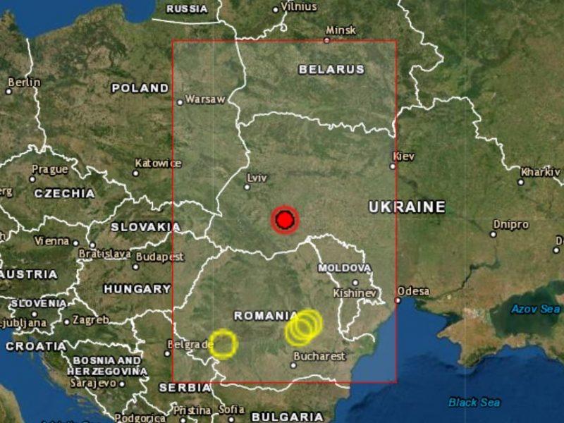 В Украине произошло землетрясение 4,3 балла