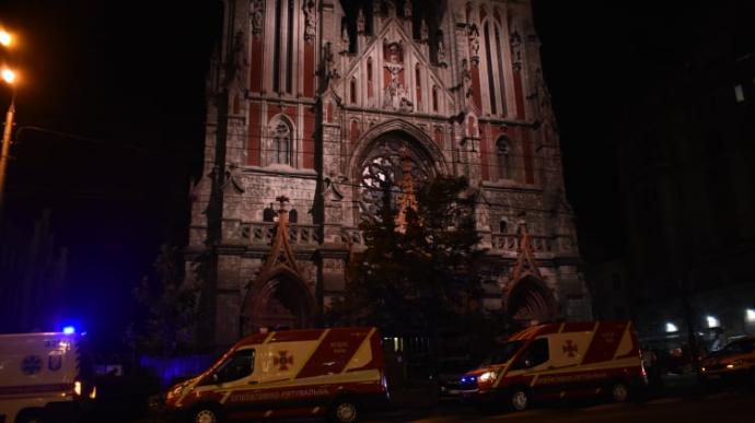 В Киеве сгорел уникальный орган в Николаевском костеле. В МВД уже знают, кто виноват (ВИДЕО)