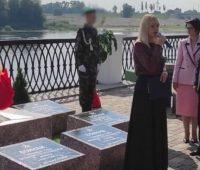 В Гомеле на День города поставили передвижной муляж братской могилы
