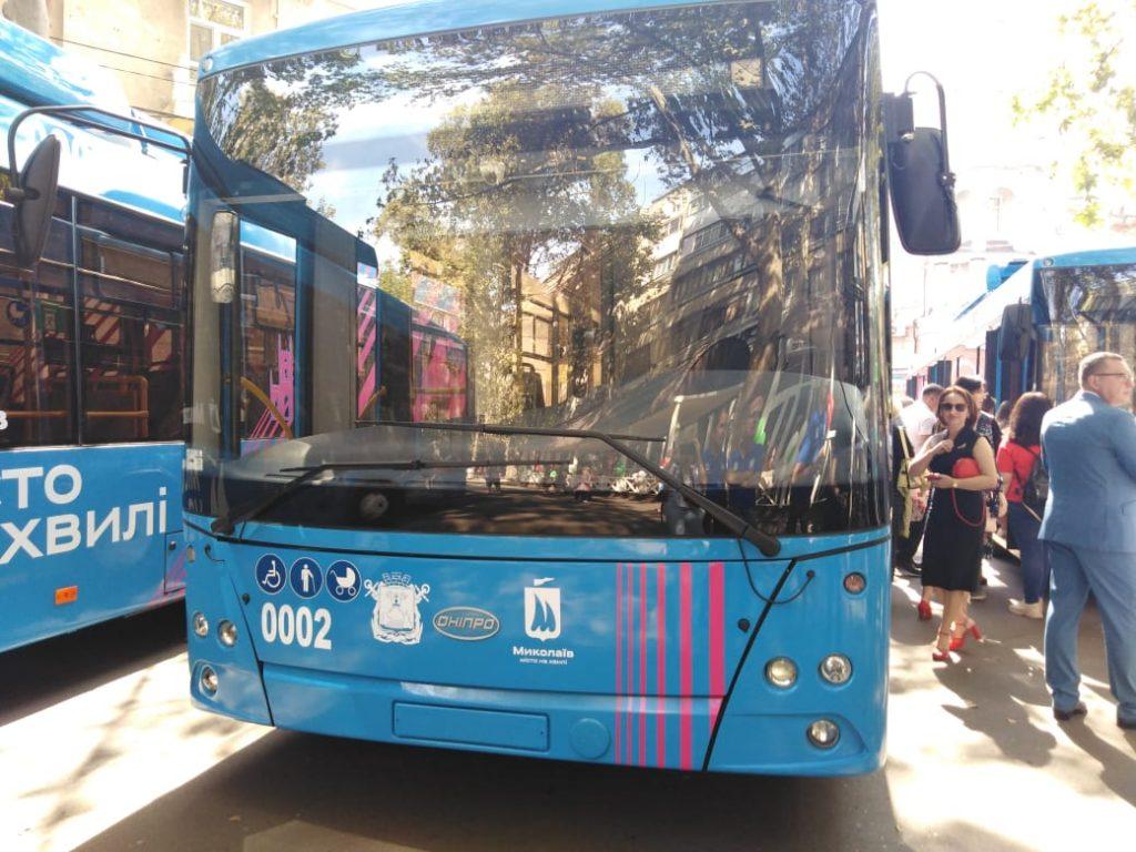 В Николаеве презентовали первых 10 троллейбусов, купленных за европейский кредит (ФОТО, ВИДЕО) 3