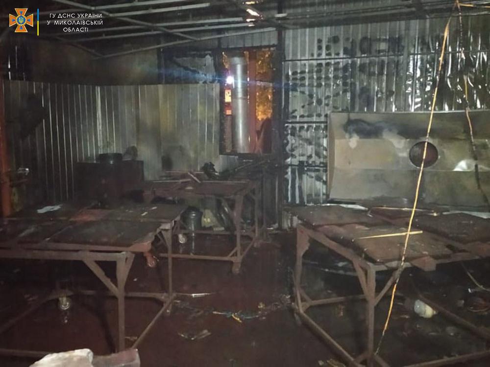 В Николаеве горело производственное помещение для сушки и шлифовки изделий из бетона 5