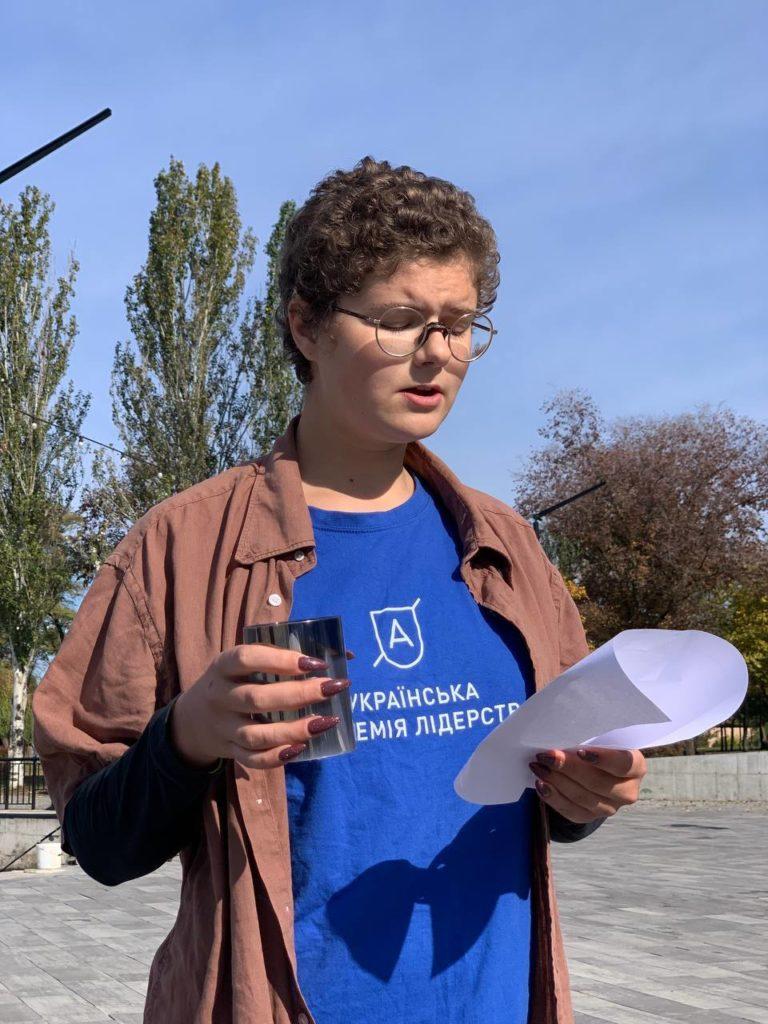 В Николаеве студенты УАЛ вспомнили имена всех погибших героев российско-украинской войны (ФОТО) 3