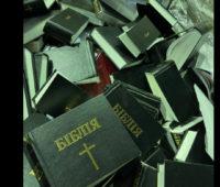 Под Киевом в пункт вторсырья привезли партию порезанных Библий