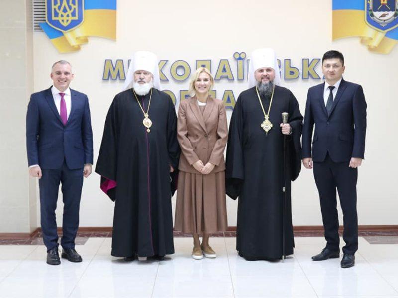 Митрополит Епифаний наградил орденами Кима, Замазееву и Сенкевича (ФОТО)