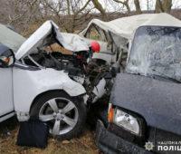 На Николаевщине из-за столкновения внедорожника и микроавтобуса пострадали три человека